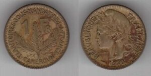 CAMEROON-RARE-VINTAGE-1-FRANC-COIN-1925-YEAR-KM-2-HIGH-CATALOGUE-VALUE
