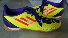 ADIDAS F50 YOUTH SZ 5.5 INDOOR SOCCER SHOES YELLOW PURPLE