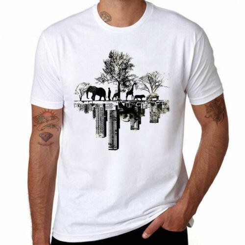 T-shirt Funny Shirts Fashion Tee Men Harajuku Printed Short Top Sleeve Downtown