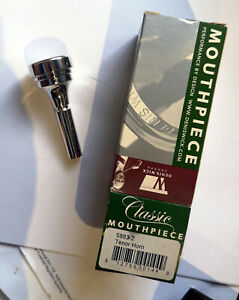 DENIS-WICK-2-CLASSIC-TENOR-HORN-MOUTHPIECE-NEW-BOXED-SILVER-PLATE