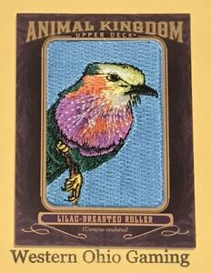 2012-Upper-Deck-Goodwin-Champions-Lilac-Breasted-Roller-AK-137-Animal-Kingdom