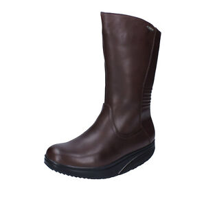 women-039-s-shoes-MBT-9-9-5-EU-40-ankle-boots-brown-leather-performance-AB451-H
