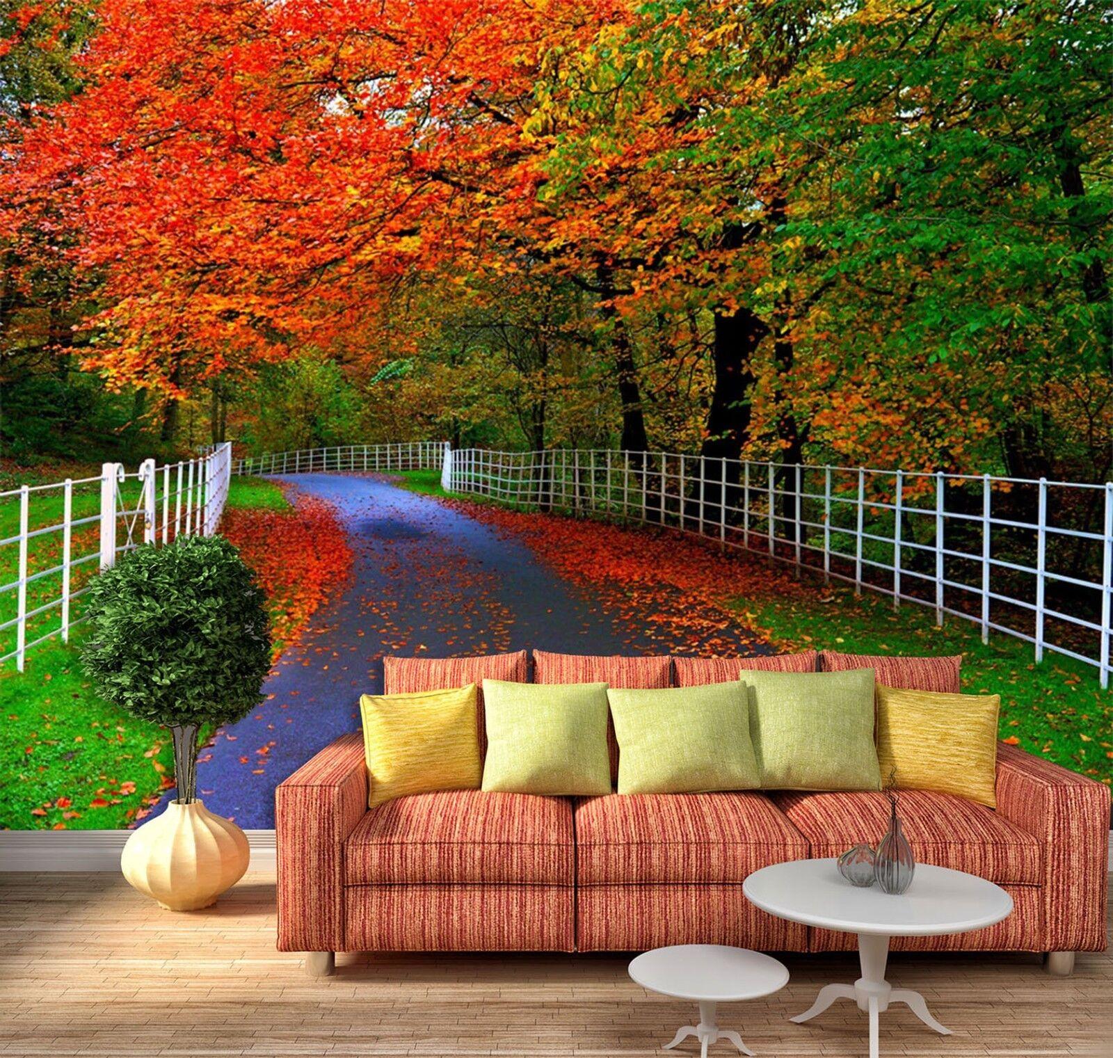 3D Garten Gehweg Natürlich 7899 Tapete Wandgemälde Tapeten Bild Familie DE Lemon  | Verkauf  | Stabile Qualität  | Zuverlässige Qualität