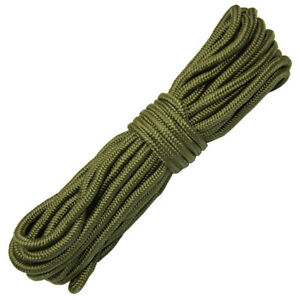 50ft Purlon Utility Rope 7mm GREEN Strong Bushcraft Camping OG Cord Ridge Line