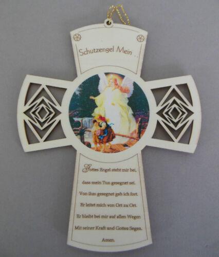 Kreuz Schutzengel Mein, mit Spruch,Gottes Engel steh mir bei, Taufe Geburt