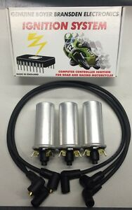 Details about TRIUMPH TRIDENT IGNITION KIT WITH 6 VOLT COILS AND PLUG WIRES