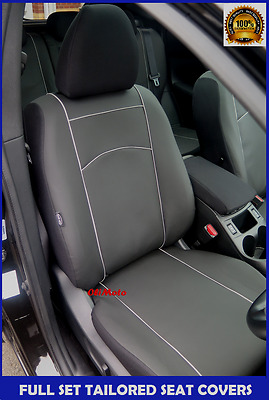 onwards Black Eco-Leather Tailored Full Set Seat Covers Toyota Hilux Mk8 2016