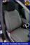 Negro De Cuero Ecológico Adaptada juego completo de fundas de asiento Toyota Hilux 2005-2016