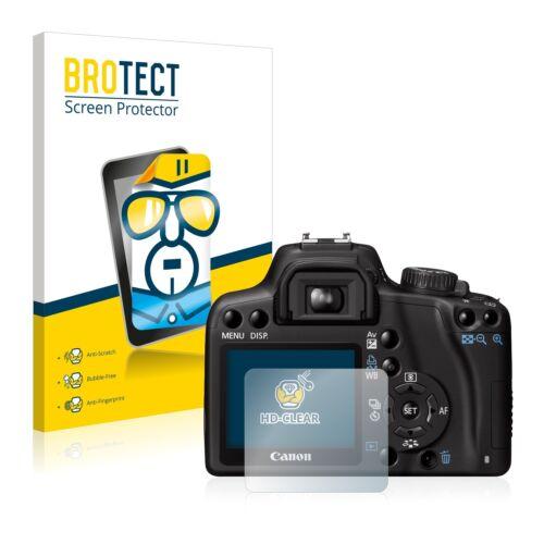 2x BROTECT Displayschutzfolie Klar Canon EOS 1000D Schutzfolie Folie