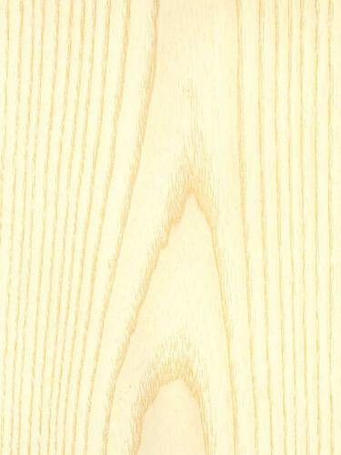 """48/"""" x 96/"""" Ash White Wood Veneer Plain Sliced Paper Backer Backing 4/' X 8/'"""
