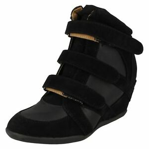 Spot On Ladies Black Ankle Boot F5R0019 (R4A)