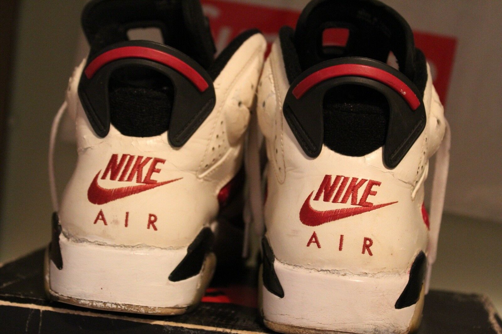 1991 OG Jordan Carmine 6 Soleswapped Comfortable Comfortable and good-looking