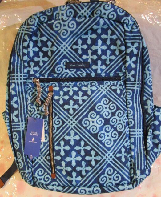 aaf1412b1a56 VERA BRADLEY Lighten Up Grand Backpack Laptop CUBAN TILES School College  Travel