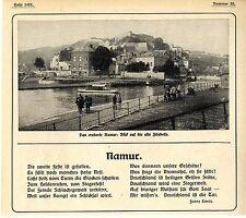 Namur - ist gefallen... Patriotisches Gedicht v. Franz Evers vom August 1914