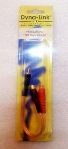 1-x-RCA-Male-Plug-to-2-x-RCA-Female-Lead-0-2m-OFC-PRO