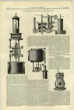 1884 Newton Hydrogen Lamp Willan's Electrical Governor