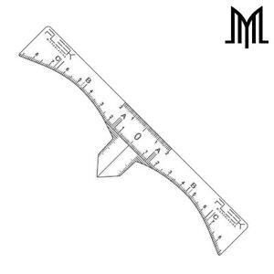FLEEK-Microblading-PRO-Sticky-RULER-Disposable-SPMU-Eyebrow-Measure
