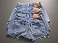Levis 501 Womens High Waisted Hotpants Denim Jeans Shorts vtg 6 8 10 12 14 16 18