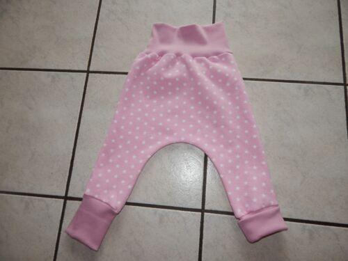 Mitwachshose Pumphose aus Sweatshirtstoff rosa mit Sterne