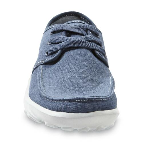 Navy    Size 7  or 8 Basic Editions Men/'s  Klaus Canvas Oxford  Shoes
