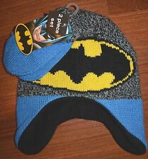 DC Comics Batman Peruvian Beanie Hat and Mittens Set Boys 2T-5T NEW