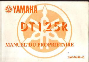 Marque Populaire Manuel Du Proprietaire Yamaha Dt125r Dt 125 R 1990 Vente Chaude 50-70% De RéDuction