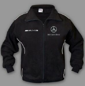 neu herren mercedes amg fleece jacke motor sport gestickte ebay. Black Bedroom Furniture Sets. Home Design Ideas