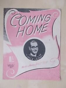 2019 DernièRe Conception Vintage Sheet Music-coming Home-jack Leon-afficher Le Titre D'origine Facile à Lubrifier