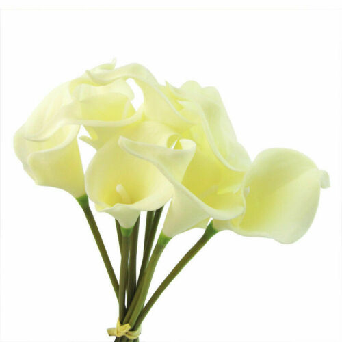 10PCS Latex Real Touch Calla Lily Flower Bouquets Bridal Wedding Home Decor New