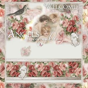 Angel Shabby Roses ~  Auction Listing Template Mobile friendly Responsive