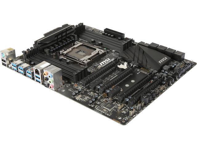 MSI X99A SLI PLUS LGA 2011-v3 Intel X99 SATA 6Gb/s USB 3.1 USB 3.0 ATX Intel Mot