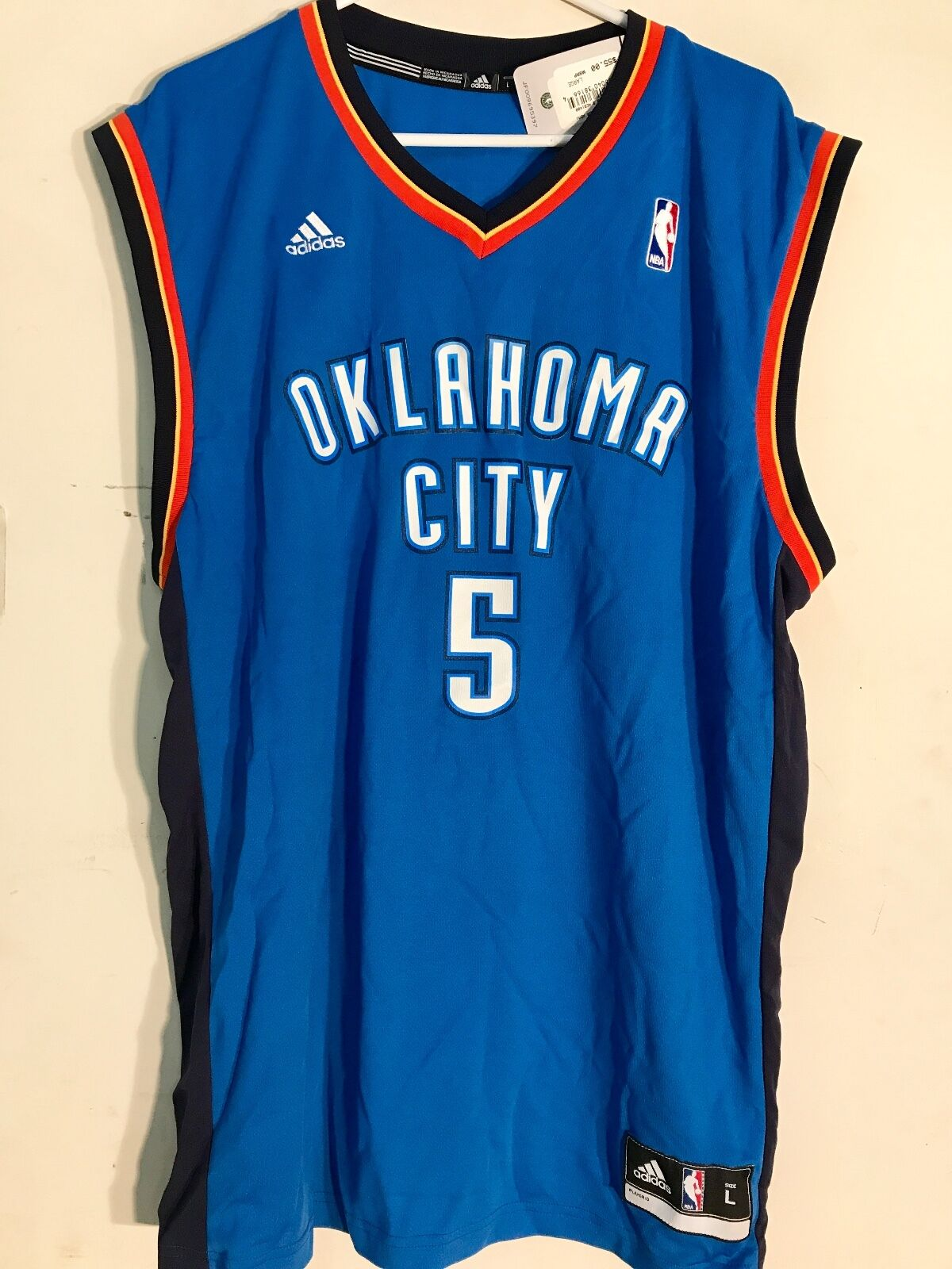 adidas NBA Jersey Oklahoma City Thunder Kendrick Perkins Blue Sz XL ...