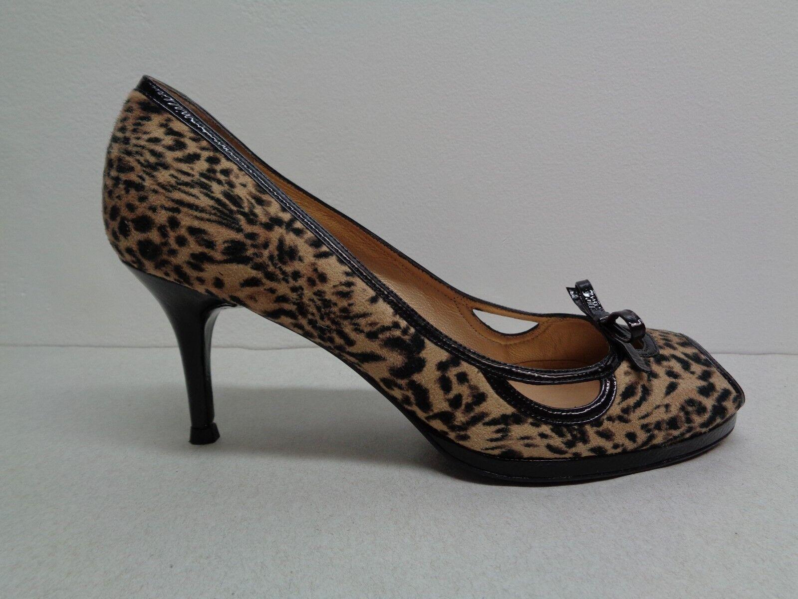 Stuart Weitzman Größe 6 M BECON Leopard Print Leather Heels Heels Heels New damen schuhe 5129b6