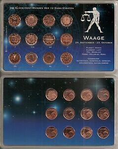 Glück Cent Münzen Der 12 Euro Staaten Sternzeichen Waage Ebay