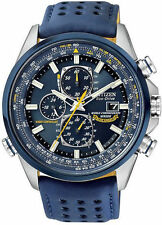Citizen Men's Blue Angels Chronograph Date Blue Dial Leather Watch AT8020-03L