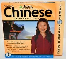 NEW Instant Immersion Mandarin Chinese Deluxe Edition Audio 16-disc CD-ROM set