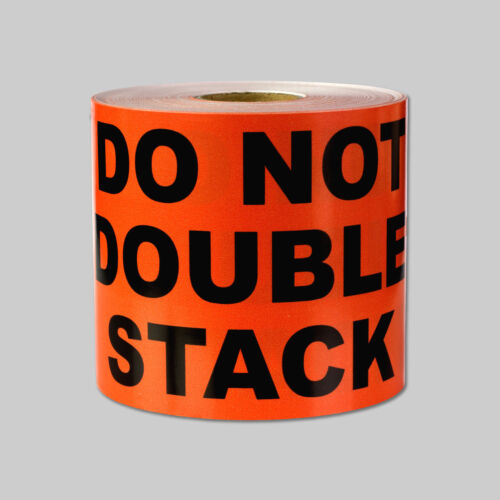 """3/"""" x 5/"""" DO NOT DOUBLE STACK Warning Stickers Fragile Warn Caution Care Labels"""