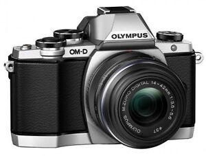 Olympus-OM-D-E-M10-16-0MP-Digital-Camera-Silver-Body-LENS-CASE-Memory