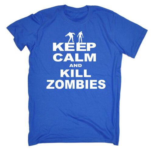 Funny Kids Childrens T-Shirt tee TShirt Keep Calm Kill Zombies
