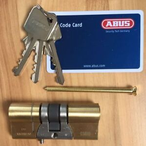 ABUS E90B 3737 C Profilzylinder Messing 3 Sterne 37mm 37mm Zylinder E 90