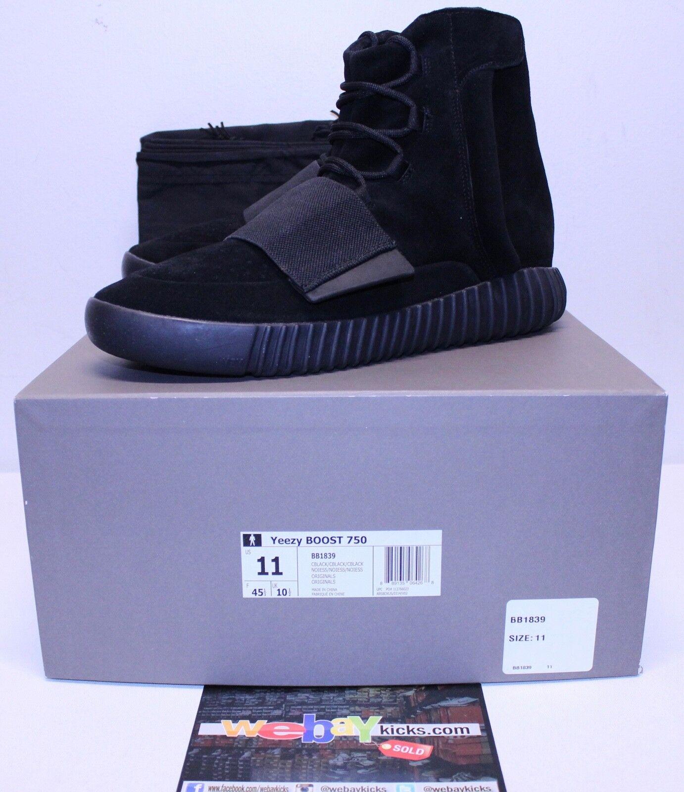 Adidas Yeezy zapatillas impulsar 750 Triple Negro Kanye West zapatillas Yeezy hombres es comodo 6e68f4