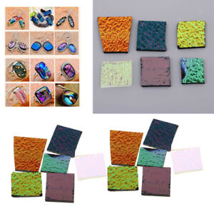 84g-Dichroic-Glass-Scrap-COE-90-Fusible-Glass-Kiln-Fusing-DIY-Jewelry-Supply