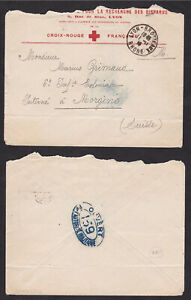 France-1918-WWI-Red-Cross-Censored-Cover-to-Switzerland