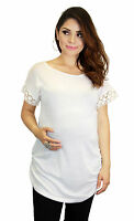Maternity Lolita Plain White Basic Maternity Tee Pregnancy Clothing Wear