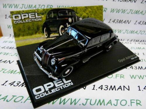 OPE75R Coche 1//43 IXO Eagle Moss Opel Colección Admiral Negra 1937//1939