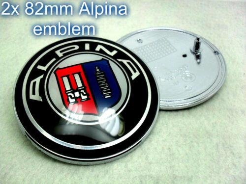 Alpina Capucha placa 2x82mm BMW 1 3 5 6 X Z M Series E46 E90 E91 E92 E81 E60 M3 OEM