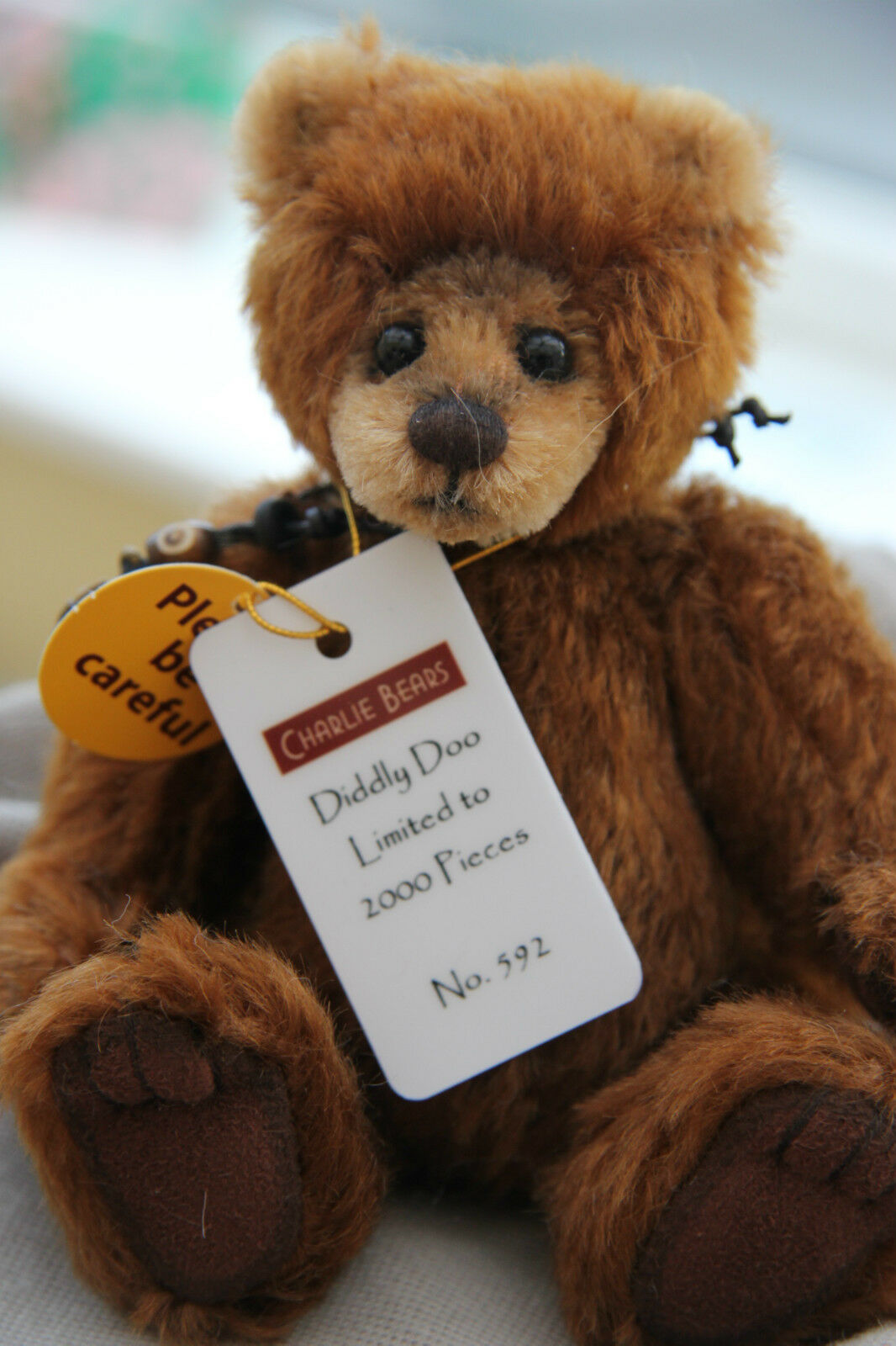 Charlie Bears Diddly Doo 16.5cm Mohair The Wildlife Sammlung  | Um Sowohl Die Qualität Der Zähigkeit Und Härte