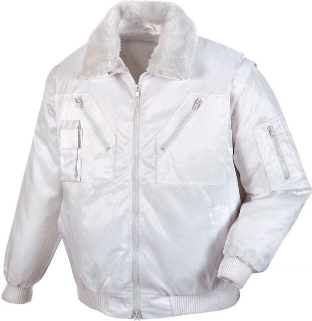 weiße Pilotenjacke Arbeitsjacke weiß Herren- Gr. L Maler Arbeitskleidung