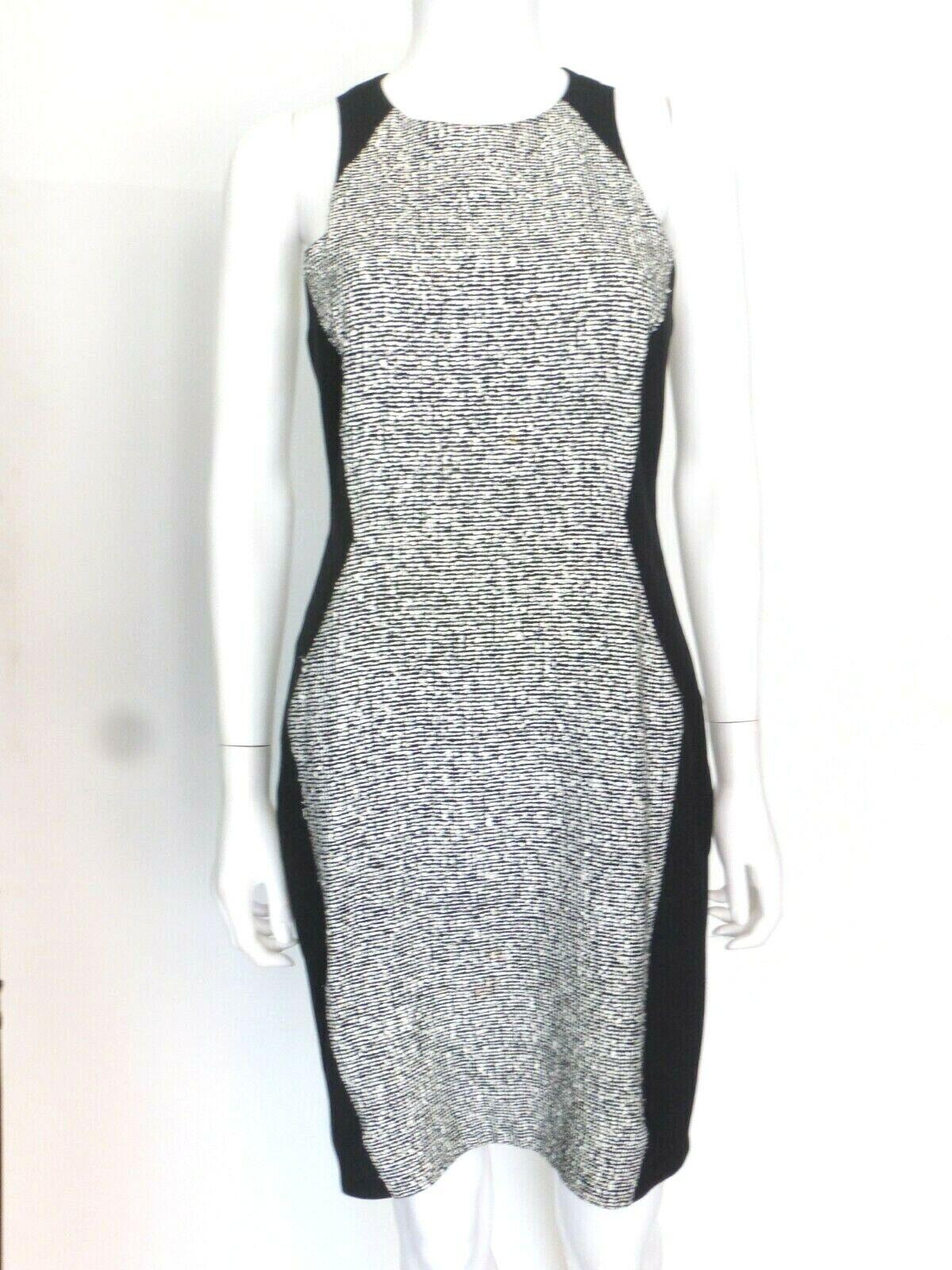 Rag & Bone schwarz Weiß Texturot Dress Sz 4 Eu 40