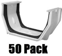 (50) Ea Genova Rw105 White Vinyl Gutter Slip Joint Connectors